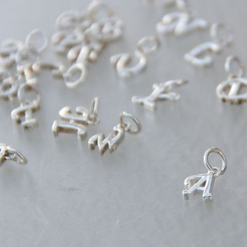 5.99-9.99 dollars Silver charm monogram personalized Bridesmaid gifts Free US Shipping handmade Anni designs