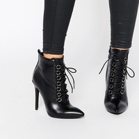 Public Desire Imogen Lace Up Heeled Ankle Boots