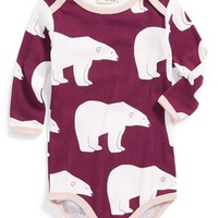 Polar Bear Print Organic Cotton Bodysuit,