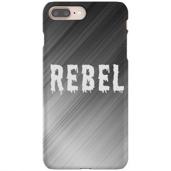 Silver Rebel iPhone 8 Plus Slim Fit Snap Case