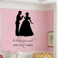 Cinderella A dream is a wish your heart makes princess  vinyl wall decal