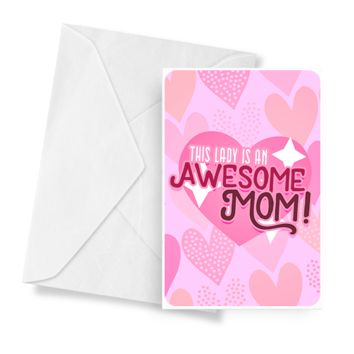 This Lady Is An Awesome Mom! | Mother's Day Jewelry Greeting Cards®