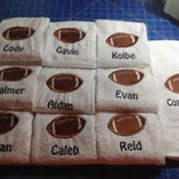 20 Team Towels - Personalized, Luxury White Cotton