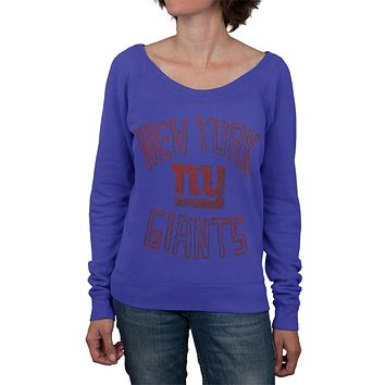 New York Giants - Logo Off Shoulder Juniors Sweatshirt