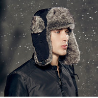 High Quality 2016 winter Warm Proof Trapper Hat, Women aviator hat,Russian Hat, sport outdoor ear flaps bomber caps for men