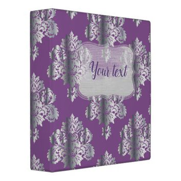 Metallic Damask Pattern Binder