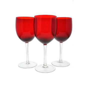 The Cellar Drink  Holiday Stemware Wine Glass - N/A / Red