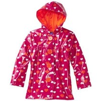 Pink Platinum Girls 2-6X Heart Raincoat $22.50