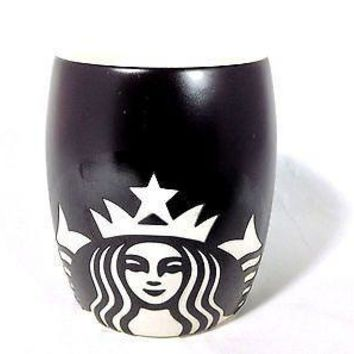 Starbucks Black Barrel Mug Mermaid Coffee  2011