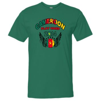 WORLD CUP cameroon PLAY HARD 2014 tshirt