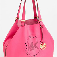 MICHAEL Michael Kors 'Perforated MK - Large' Leather Tote | Nordstrom