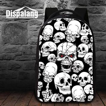 Girls bookbag Cute Skull School Backpacks for College Students Girls Fashion Bookbags Schoolbags Lightweight Back pack Laptop computer bags AT_52_3
