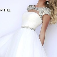 Short High Neck Sherri Hill Prom Dress