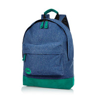 River Island MensBlue Mipac jersey Backpack