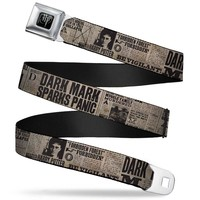 Harry Potter Logo Full Color Black White Harry Potter Newspaper Headlines Seatbelt Belt Standard