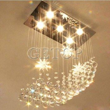 Z Modern LED Crystal Lamp Large Chandelier Lighting Lustre Rectangular Ceiling Light for restaurant livingroom bedroom