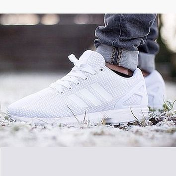 Adidas Fashion Women ZX FLUX Running Sport Casual Shoes Sneakers White-1