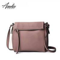 AMELIE GALANTI 2017 Woman crossbody bag solid casual zipper versatile shoulder bags 5 color High quality PU Famous Brand fashion