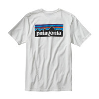 Patagonia Men's P-6 Logo Cotton T-Shirt- White