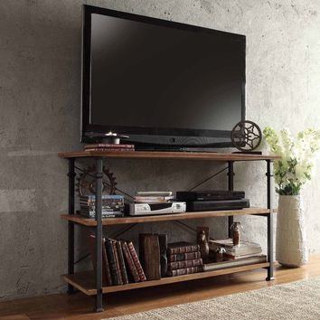 TRIBECCA HOME Myra Vintage Industrial TV Stand | Overstock.com Shopping - The Best Deals on Media/Bookshelves