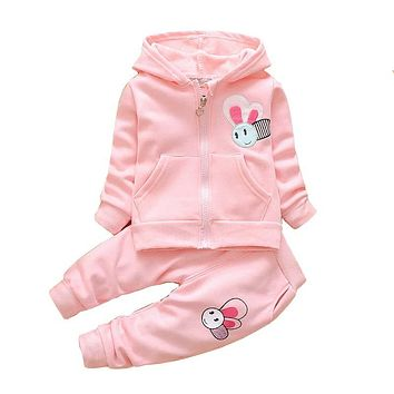 Baby Girl Spring Clothing Sets Toddler Girls Cotton Cartoon Sport Suit Set Children Kids Casual Clothes Set Baby Clothes