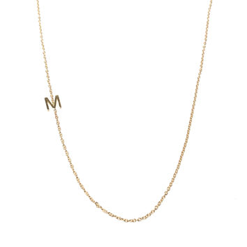 Initial Necklace - Single Asymmetrical Letter Necklace