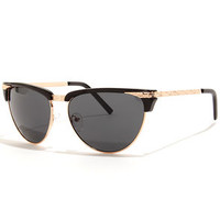 Friendly Rose Gold and Black Sunglasses