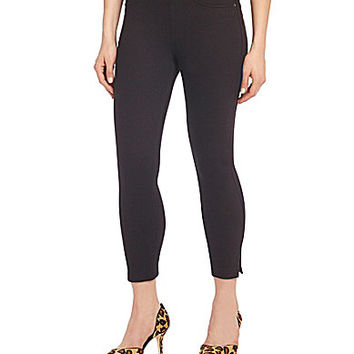 HUE Original Denim Capri with Ankle Slits
