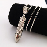 Gift Jewelry Shiny Stylish New Arrival Hip-hop Club Necklace [8439440643]