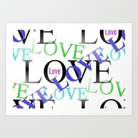 Crazy In Love Art Print by Kathleen Sartoris