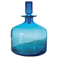 "Aqua Blue Glass Decanter (12"")"