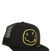 Nirvana Smiley Snapback Trucker Hat