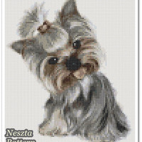 YORKSHIRE Terrier Cross Stitch Pattern, Yorkshire Terrier x stitch pattern, colorfull Cross stitch Embroidery, Embroidery pattern