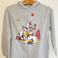 Vintage 1990's Looney Tunes Hooded Shirt