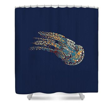 The Jelly Fish By Adam Asar - Shower Curtain