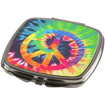Peace Sign Tie Dye Compact