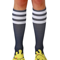 Steph Stone Acid Smileys Knee High Socks