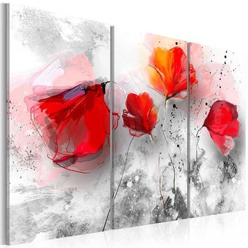 Unframed 3 Panels/set Abstract Flowers Modern Art Canvas Wall Paintings Wall Pictures Home Decor Living Room Canvas Painting Wal