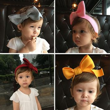WENDYWU Kids Girl Hairband Big Bow Candy Color Headband Bowknot Hair Clip Bandages Head Wear Hair Accessories Christmas Gift