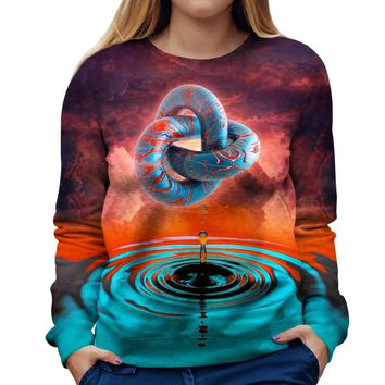 A Psychedelic Womens Sweatshirt