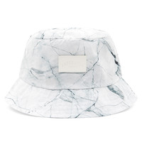 Cracked Marble Bucket Hat - White