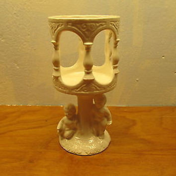 RENAISSANCE STYLE VOTIVE CANDLE HOLDER WITH CHERUBS