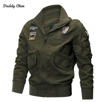 Trendy Winter military jackets men coat Pilot bomber jacket Spring Slim windbreaker Air Force Cargo tactical army track male jacket 4XL AT_94_13