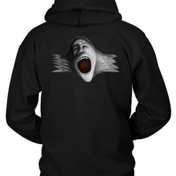 DCCKG72 Pink Floyd Scream Face Blow Up Hoodie Two Sided