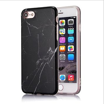 VBNM Marble Case For Iphone 7 Case Cover Silicone TPU Matte Cover Cases For Iphone 8 7 Plus X 6 6S Plus Luxury Case Fundas Capa
