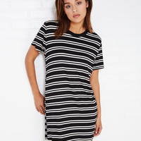 Double Stripe T-Shirt Dress | Wet Seal