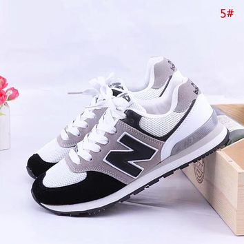 New Balance Fashion New Z Letter Mesh Women Men Sports Leisure Contrast Color Shoes 5#
