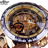 Winner Golden Watch Mens Watches Clock Men Automatic Skeleton Watch