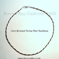 Horse Hair Necklace with Sterling Silver Clasp