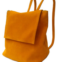 Saffron Suede Backpack